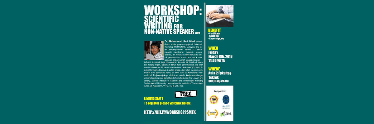Workshop: Scientific Writing for Non-Native Speaker with Dr. Muhammad Roil Bilad