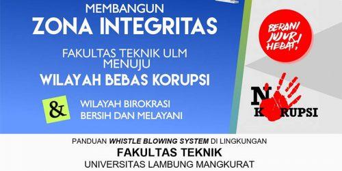 Materi Sosialisasi Whistle Blowing System di Lingkungan FT ULM